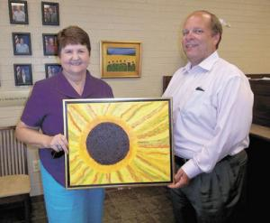 Local Artist Margaret Cline Harmon Exhibits Artwork At City Utility Office